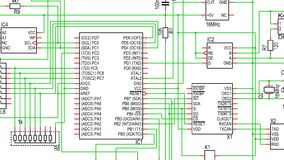 Part of Circuit Diagram Royalty Free Stock Images