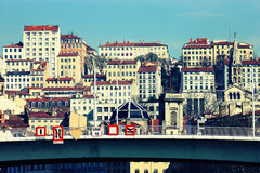 Part of the city of Lyon Royalty Free Stock Photography