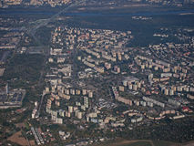 Part of city. Panorama and buildings royalty free stock photo