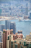 Part of city view of Hongkong Stock Photography