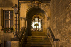 Part of the cityhall in Quedlinburg at night, Germany Royalty Free Stock Photo
