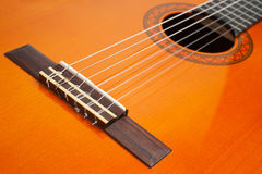Part of classic guitar Royalty Free Stock Images