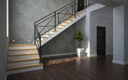 Part of the classical interior, staircase view Royalty Free Stock Photo