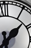 Part of clock. Part detail of clock formed with black and white, the number and finger looks like a abstract image Royalty Free Stock Images