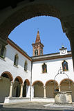 Part of the cloister of the convent Royalty Free Stock Photos
