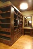A part of closet. A part of big closet with mirror stock photos