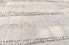 Part of cobbled road Royalty Free Stock Photo