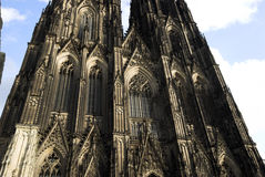 Part of Cologne Cathedral Facade Stock Images