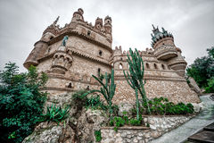 Part of Colomares Castle. Benalmadena town. Spain Stock Photos