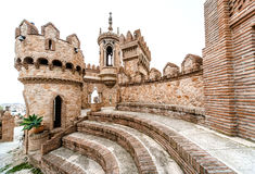 Part of Colomares Castle in Benalmadena town. Spain Stock Photos