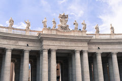 Part of colonnade in St Peter square in Rome, Italy Royalty Free Stock Photography