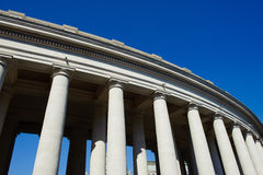 Part of colonnade in St Peter square in Rome, Italy, Vatican Cit Stock Photography