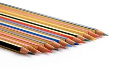 Part of color pencils Royalty Free Stock Photography