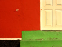 Part of colored facade Royalty Free Stock Image