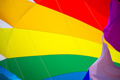 Part of colorful kite. In the air Stock Photos