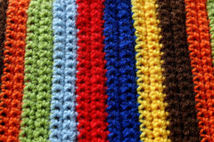 Part of colorful knitted wool Stock Photography
