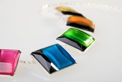Part of colorful necklace Royalty Free Stock Images