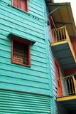 Colorful House. Part of a colorful structure in Patagonia, South America Stock Photo