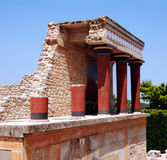 Part of column in Knossos palace Stock Photography