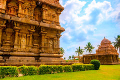 Part of complex architecture Hindu Temple, ancient Gangaikonda C Stock Photo