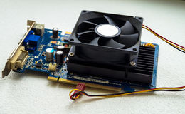 Part computer video card Stock Images