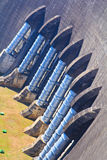 A part of concrete dam Stock Photo