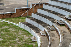 Part of concrete grandstand. Part of old concrete grandstand stock photography