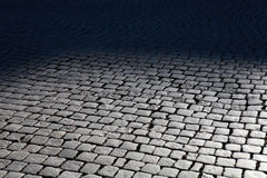 Cobblestone street Royalty Free Stock Photos