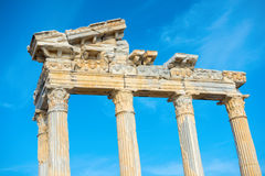 Part of construction ancient ruins Apollo Temple Roman Empire, S Royalty Free Stock Image