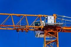 Part construction crane with blue sky. Background Stock Photos