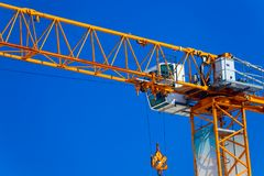 Part construction crane with blue sky background Stock Images