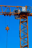 Part construction crane with blue sky background.  Stock Photography