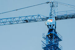 Part of the construction crane. Construction machinery on construction site Royalty Free Stock Images