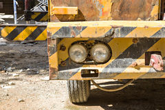 Part of construction machine. In construction site Royalty Free Stock Photography
