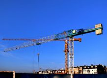 Cranes on the construction site royalty free stock photography