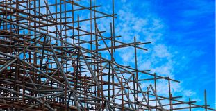 Part of the construction structure. Close up Stock Photo