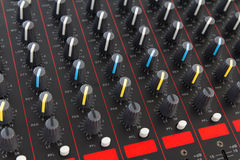 Part of control an audio sound mixer Stock Photography