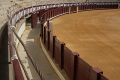 Part of corrida arena. Bullfighting arena in Malaga, Spain Stock Photo