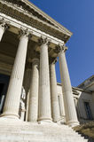 Part of courthouse. With columns and stairs stock photography