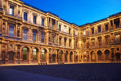 Part of courtyard of Louvre Stock Photo