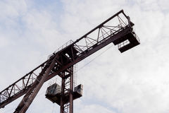 Part of the crane. Bottom view. Royalty Free Stock Image