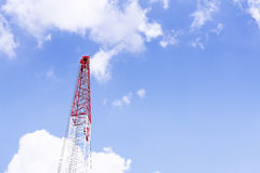 The part of crane structure with the blue sky. Royalty Free Stock Photos