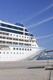 A part of cruise liner stock photography