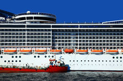 Part of the Cruise Liner Royalty Free Stock Images