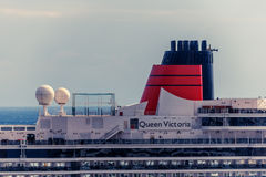 Part of cruise ship Queen Victoria Royalty Free Stock Images
