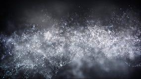 Part?culas de voo de brilho do fundo abstrato do movimento filme