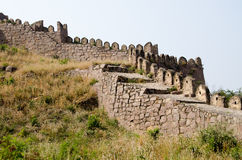 Battlements, Golcanda Fort Stock Photo