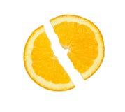 Part d'orange Photos libres de droits