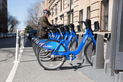 Part de bicyclette de Citibike Images stock