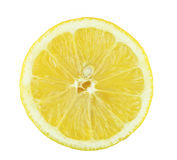 Part de citron d'isolement sur le fond blanc. Photographie stock libre de droits